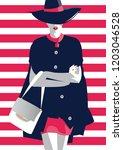 fashion woman in style pop art. ... | Shutterstock .eps vector #1203046528