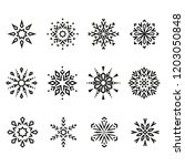 snowflakes icon collection.... | Shutterstock .eps vector #1203050848