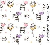 seamless pattern of cute... | Shutterstock .eps vector #1203071575