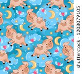 vector endless pattern with...   Shutterstock .eps vector #1203079105