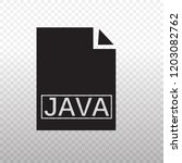 solid icon black java files... | Shutterstock .eps vector #1203082762