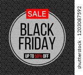 black friday sale banner and... | Shutterstock .eps vector #1203087592