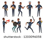 police characters. patrol... | Shutterstock .eps vector #1203096058