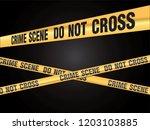 crime scene do not cross vector | Shutterstock .eps vector #1203103885