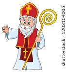 saint nicholas topic image 1  ... | Shutterstock .eps vector #1203104005