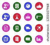 customs icons. white flat... | Shutterstock .eps vector #1203107968