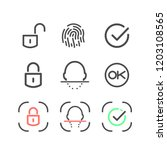 icon set identification and... | Shutterstock .eps vector #1203108565