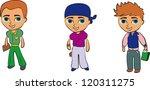 set of cartoon cute children | Shutterstock .eps vector #120311275