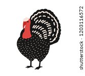 adorable turkey isolated on... | Shutterstock .eps vector #1203116572