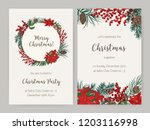 set of christmas flyer or party ... | Shutterstock .eps vector #1203116998