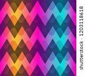 rainbow color zigzag seamless... | Shutterstock . vector #1203118618