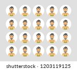 vector young adult man avatars... | Shutterstock .eps vector #1203119125