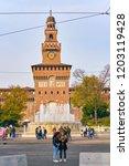 milan  italy   circa november ... | Shutterstock . vector #1203119428
