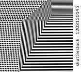 abstract black and white... | Shutterstock .eps vector #1203120145
