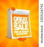 autumn sale design template in... | Shutterstock . vector #1203126742