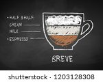 vector chalk drawn sketch of... | Shutterstock .eps vector #1203128308