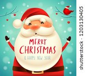 christmas santa claus.... | Shutterstock .eps vector #1203130405