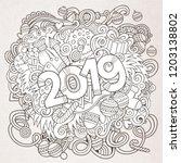 cartoon vector cute doodles...   Shutterstock .eps vector #1203138802