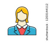 employee woman filled related... | Shutterstock .eps vector #1203144112