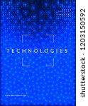 deep learning background.... | Shutterstock .eps vector #1203150592
