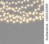 christmas lights isolated on... | Shutterstock .eps vector #1203153505