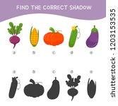 educational  game for children. ... | Shutterstock .eps vector #1203153535