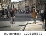 london  october  2018  shoppers ...   Shutterstock . vector #1203155872