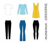 illustration of women's skirt ... | Shutterstock .eps vector #1203155932