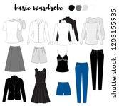 illustration of women's skirt ... | Shutterstock .eps vector #1203155935