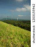 windmill on mountain | Shutterstock . vector #1203155962