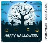 happy halloween design with... | Shutterstock .eps vector #1203157528