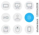 vector illustration of 9 laptop ... | Shutterstock .eps vector #1203162028