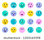 set of emoticons stickers ... | Shutterstock .eps vector #1203165598