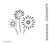 firework icon  linear sign...   Shutterstock .eps vector #1203169675