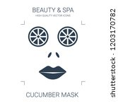 cucumber mask icon. high... | Shutterstock .eps vector #1203170782