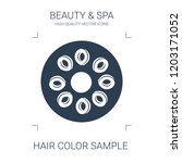 hair color sample icon. high...   Shutterstock .eps vector #1203171052