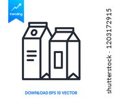 milk package icon. sign design | Shutterstock .eps vector #1203172915