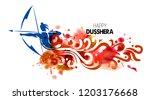 illustration of lord rama... | Shutterstock .eps vector #1203176668