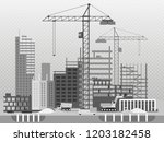 work process of buildings... | Shutterstock .eps vector #1203182458