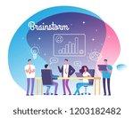 brainstorming concept. people... | Shutterstock .eps vector #1203182482