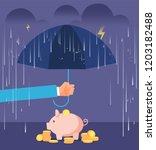 deposit protection concept.... | Shutterstock .eps vector #1203182488