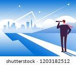 beginning way. businessman at... | Shutterstock .eps vector #1203182512