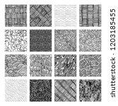 16 seamless pattern of ink hand ... | Shutterstock . vector #1203185455
