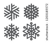 snowflake winter set of black... | Shutterstock .eps vector #1203185572