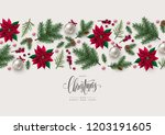 christmas greeting card with... | Shutterstock .eps vector #1203191605