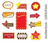 sale banner sign ad. vector... | Shutterstock .eps vector #120319162