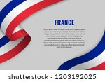 waving ribbon or banner with... | Shutterstock .eps vector #1203192025