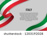 waving ribbon or banner with... | Shutterstock .eps vector #1203192028