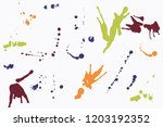 hand drawn set of colorful ink...   Shutterstock .eps vector #1203192352