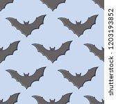 bats seamless pattern. hand... | Shutterstock .eps vector #1203193852
